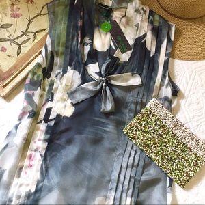 NWT Stile Benetton Floral Silk Dress